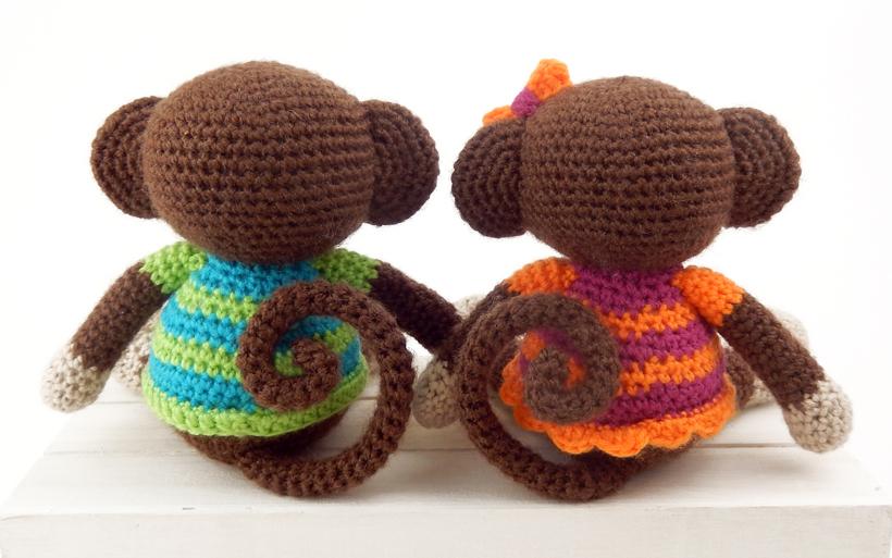 Amigurumi Mini Monkey Crochet Pattern | 513x820